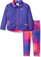 adidas Baby Girls' Fashion Tricot Jacket Set