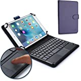 Samsung Galaxy Tab 7.0 Plus/Plus N keyboard case, COOPER TOUCHPAD EXECUTIVE 2-in-1 Wireless Bluetooth Keyboard Mouse Leather Travel Cases Cover Holder Folio Portfolio + Stand P6200 P6210 (Blue)