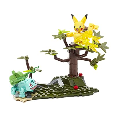 Mega Construx Pokemon Pikachu vs. Bulbasaur: Toys & Games