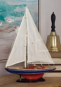 Deco 79 Attractive Miniature Wood Sailing Ship