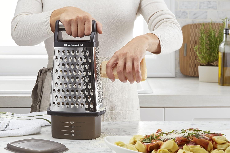 amazon com kitchenaid gourmet stainless steel box grater black