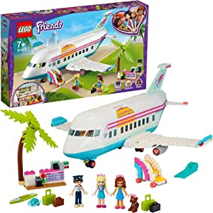 LEGO Friends Heartlake City Airplane 41429 building set with 4 mini-dolls and holiday accessories, Toy for Kids 7+ years (574 pieces)
