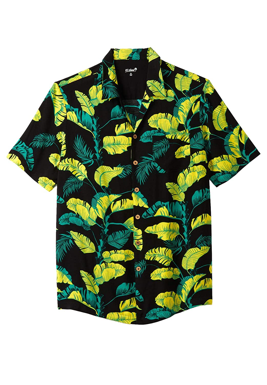 KS Island Mens Big /& Tall Tropical Caribbean Camp Shirt
