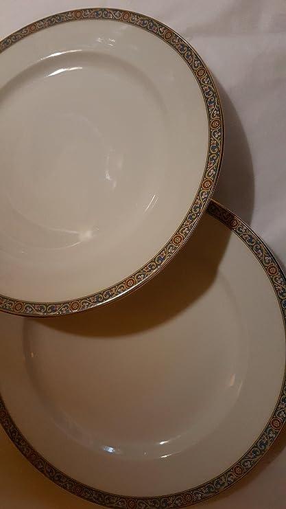 Two 9\u0026quot;limoges vignaud dinner plates & Amazon.com: Two 9\