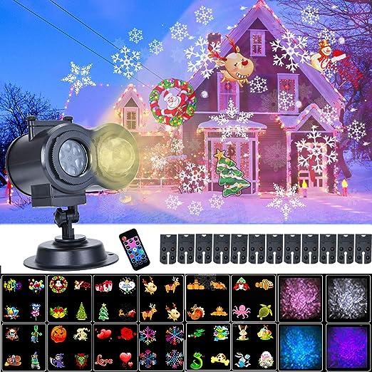 Soontrans Proyector Navidad LED, con 12 Diapositivas y Efecto Onda ...