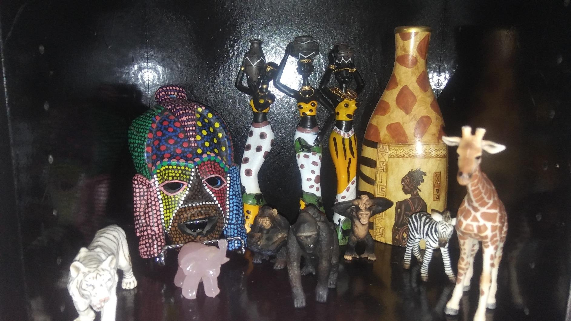 TBW African Tribal Women Collectible Figurines for Mother's Gifts,Green,Pack of 3 by TBW (Image #8)