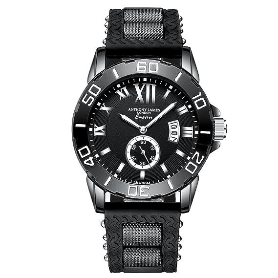 4140ba1d19 Anthony James Luxury Limited Edition Emperor Reloj de pulsera para hombre  Oferta