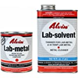 Alvin 24 oz Lab Metal & 16 oz Lab Solvent Kit Putty, Dent Filler & Patching Compound Epoxy