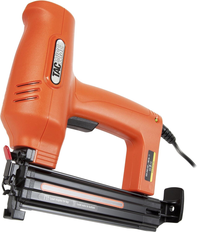 Tacwise Duo 35 - Grapadora / Clavadora eléctrica para grapas estrechas de 91 hasta 30mm y clavos de 180 (18G) hasta 35mm