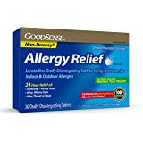 GoodSense Loratadine Orally Disintegrating Tablets, 10 mg, 24 Hour Allergy Tablets, 30 Count