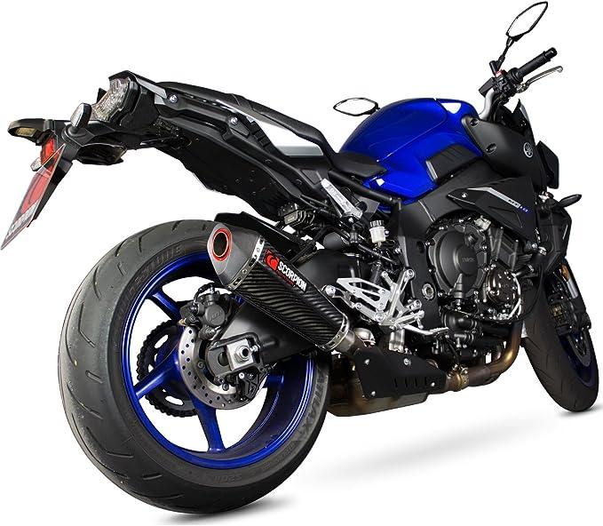 Rya1 02ceo Scorpion Serket Taper Carbon Oval Exhaust Yamaha Mt 03 10 2016 2017 Sport Freizeit