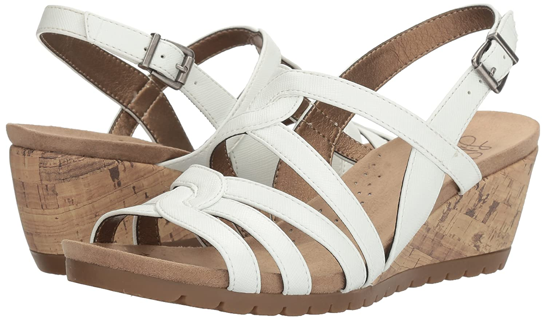 LifeStride Women's Novak Wedge Sandal B01LGV7KUO 8.5 W US White