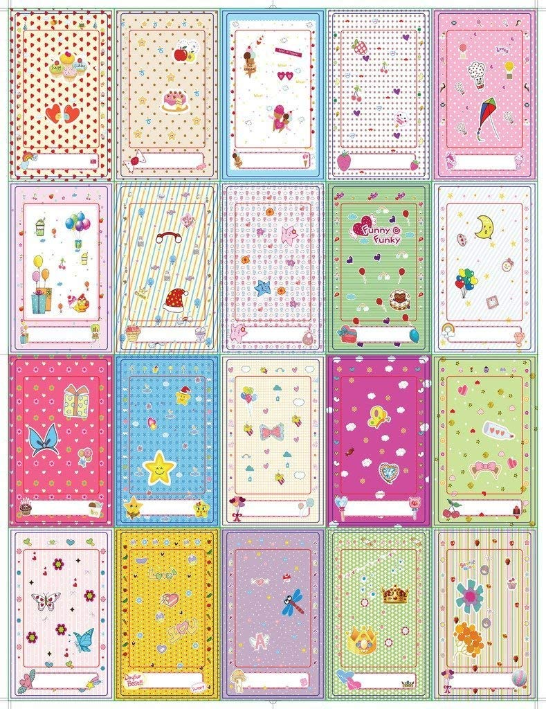 Lifeprint Polaroid HP Fujifilm wallpaper-borders Zink Colorful Fun /& Decorative Stickers For 2x3 Photo Paper Projects Pack of 100 Compatible with Kodak Canon