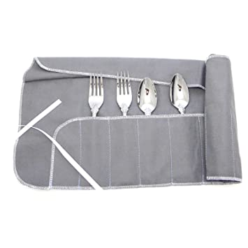 Merveilleux 12 Section Anti Tarnish Silverware Storage Roll Spoon Fork Knife Wrap Bag