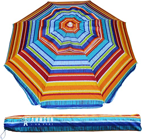 AMMSUN 6.5ft Outdoor Patio Beach Umbrella