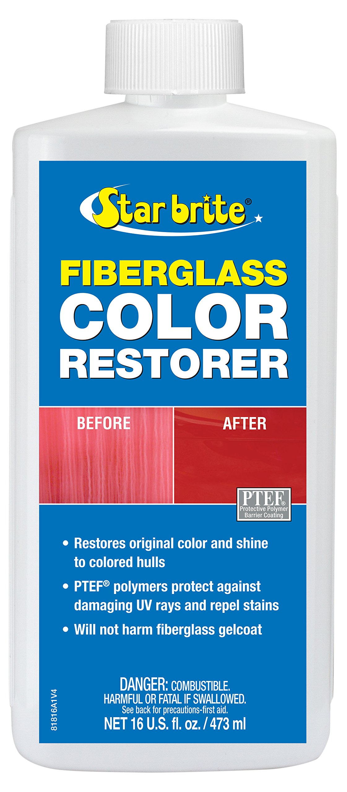 Star Brite Fiberglass Color Restorer With PTEF - 16 oz by Star Brite (Image #1)