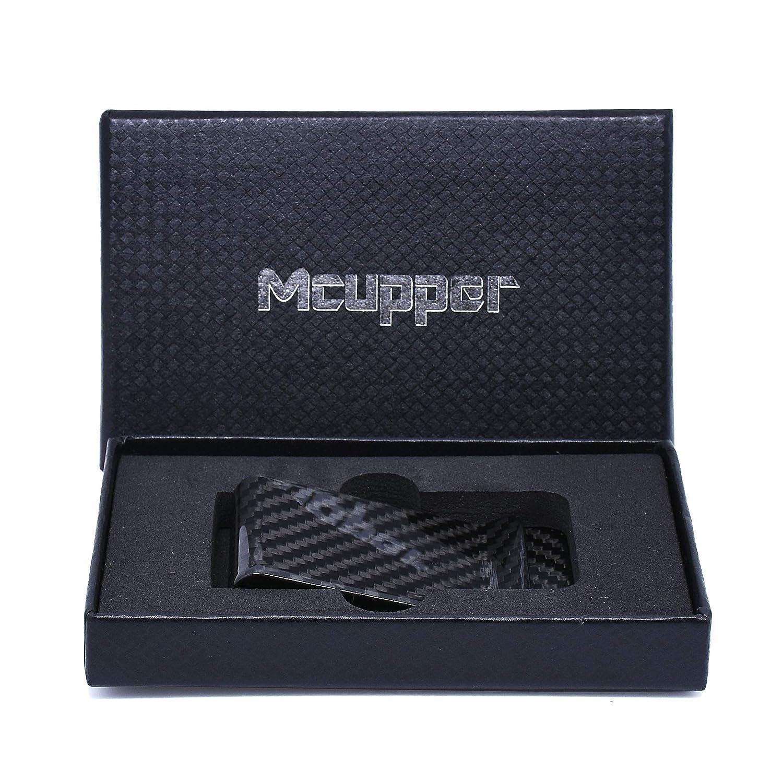 Mcupper Upgraded Version Real Carbon Fiber Money Clip Business Card Credit Card Cash Wallet