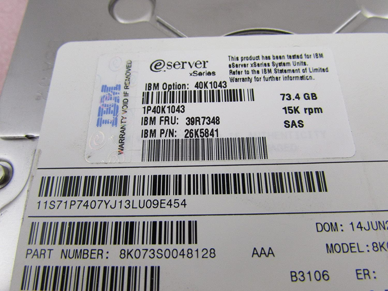 IBM 73.4GB 15K SAS 3.5 inch Hot Swap Hard Drive Caddy 39R7348//26K5841//40K1043
