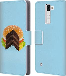 Head Case Designs Officially Licensed Paul Fuentes Hamburger Cake Junk Food Leather Book Wallet Case Cover Compatible with LG K8 / Phoenix 2