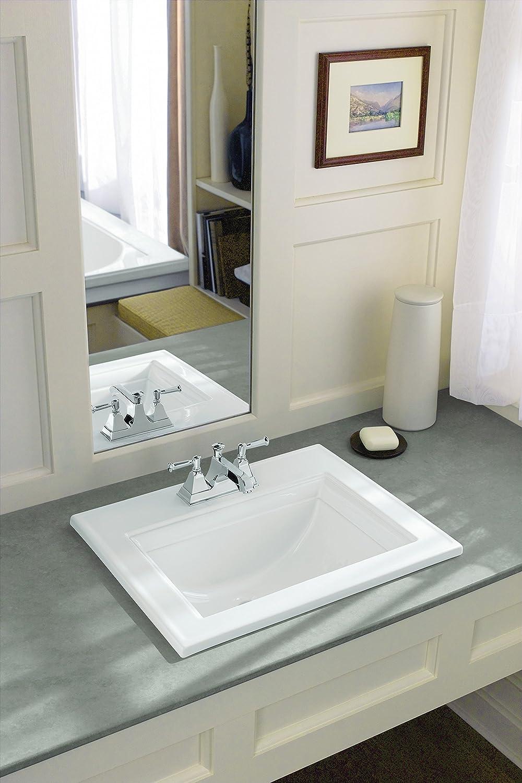 KOHLER K-2337-4-0 Memoirs Self-Rimming Bathroom Sink Sink with ...