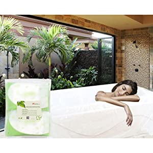 WANPOOL Disposable Individual Bathtub Bag Film for Traveling/Hotel/Household/Salon (86x47 Inch) 8 Pieces