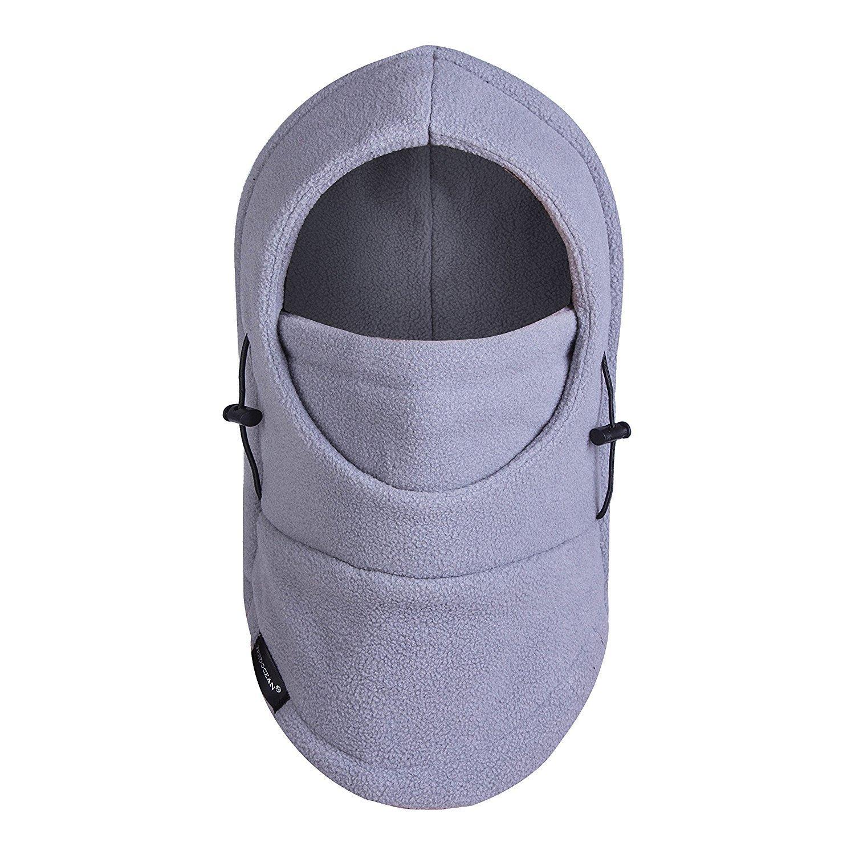 4e363ea8ed1 Clothing Unisex Kids   Adult Winter Outdoor Fleece Hood Adjustable Full  Face Mask Neck Warmer for Skiing Snowboard ...