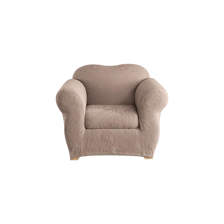 Amazon Com Surefit Stretch Jacquard Damask 2 Piece Chair