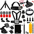 Luxebell Accessories Kit for AKASO EK5000 EK7000 4K WIFI Action Camera Gopro Hero 5/Session 5/Hero 4/3+/3/2/1 (14 Items)