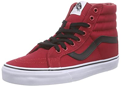 f399fc4f86d9 Image Unavailable. Image not available for. Color  Vans Unisex Sk8-Hi  Reissue (Canvas) Chili Pepper Bla ...