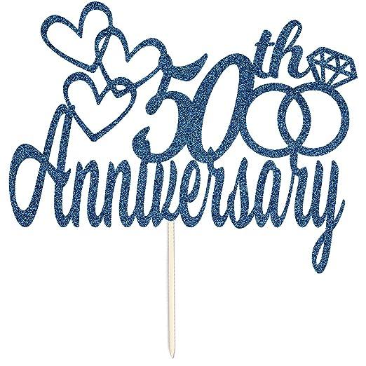 Decoración para tarta de 50 aniversario de boda, compromiso, con ...