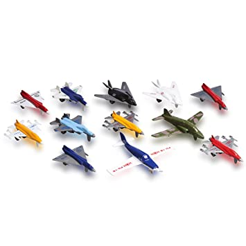 Metal Die cast Toy Airplane Set Of 12 Military Planes And Jets