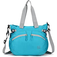 forestfish Women's Lightweight Gym Tote Bag Waterproof Sports Handbag, Blue
