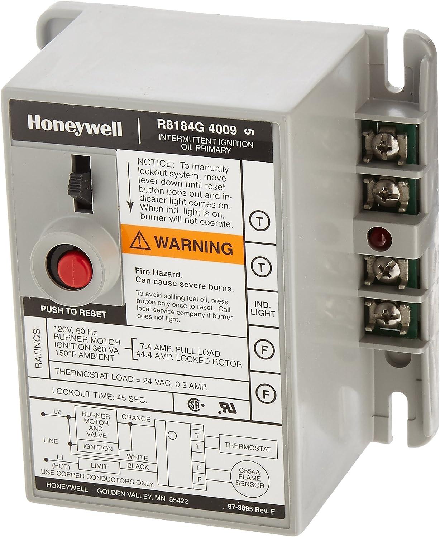 Honeywell R8184G4009 International Oil Burner Control - Household Furnace  Accessories - Amazon.comAmazon.com