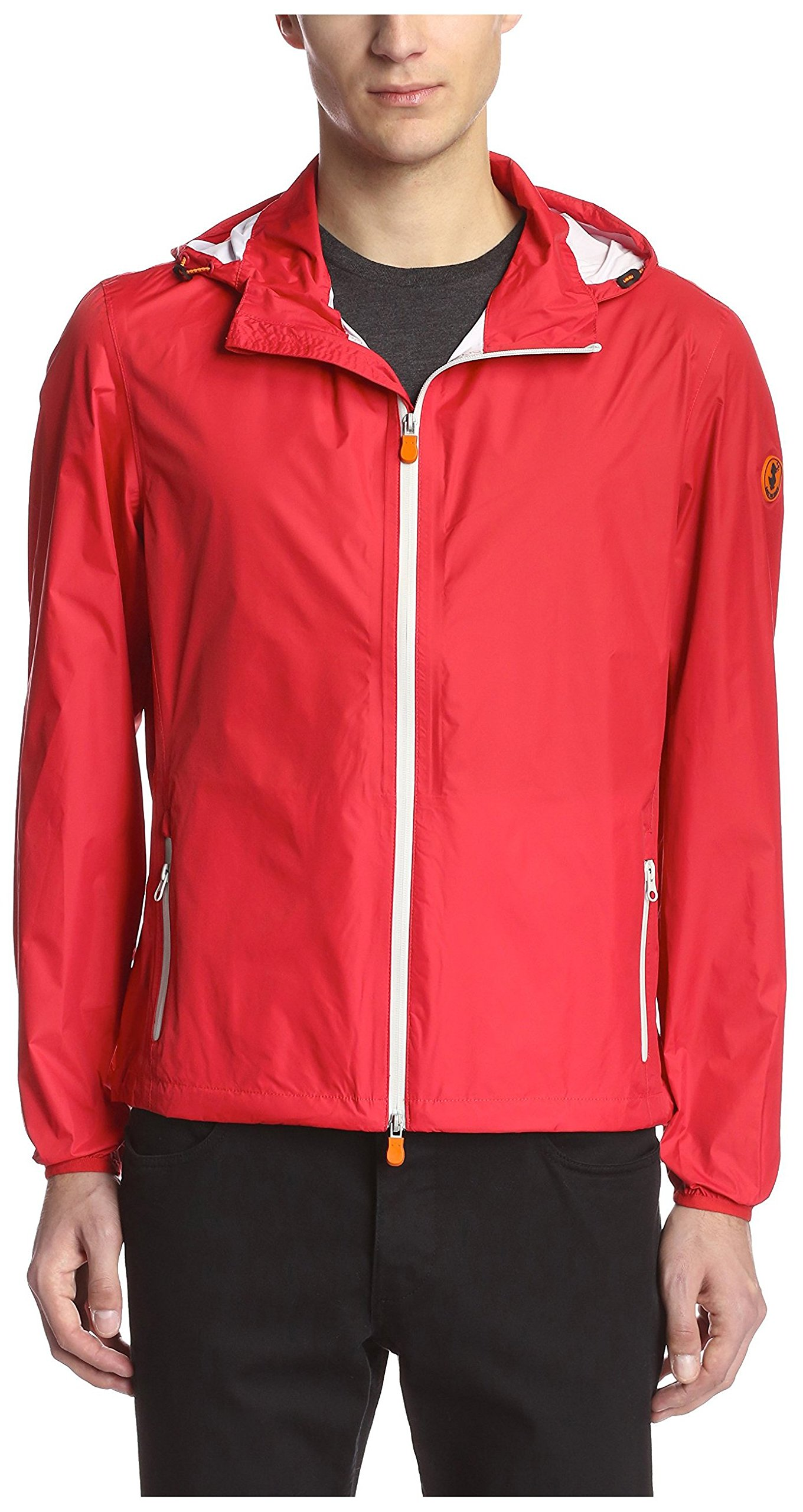 Save The Duck Men's Lightweight Shell Windbreaker Jacket, Love Red, M