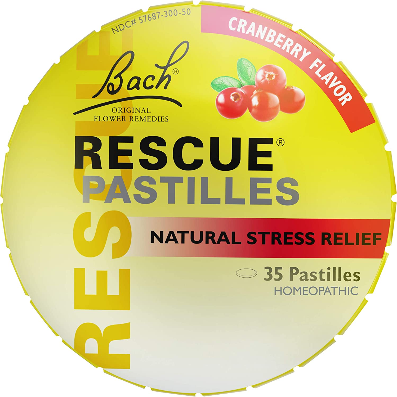 Rescue PASTILLES, Homeopathic Stress Relief, Natural Cranberry Flavor - 35 Pastilles, Cranberry
