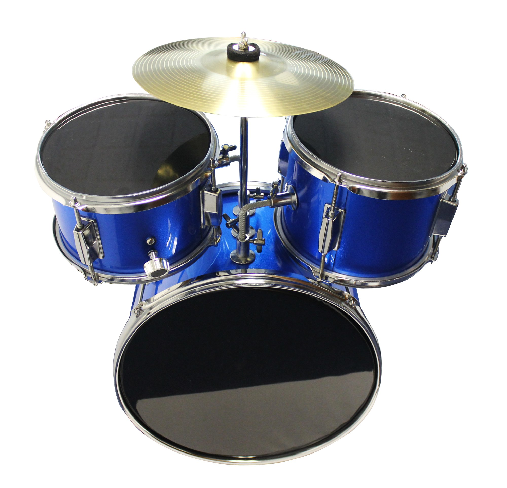 Music Alley Kids 3 Piece Beginners Drum Kit, Blue, inch (DBJK02) by Music Alley (Image #4)
