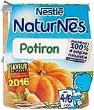 Nestlé Bébé Naturnes Potiron - Purée de Légumes dès 4 - 6 Mois - 2 x 130g - Lot de 6