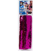 Forum Novelties Sequin Costume Arm Sleeves Adult: Magenta One Size
