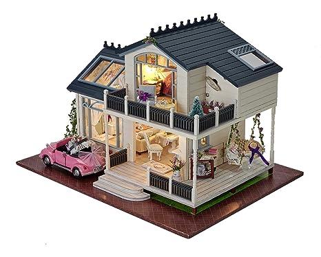 Costruire Una Casa Delle Bambole Di Legno : Diy casa delle bambole in legno in miniatura handcraft kit di