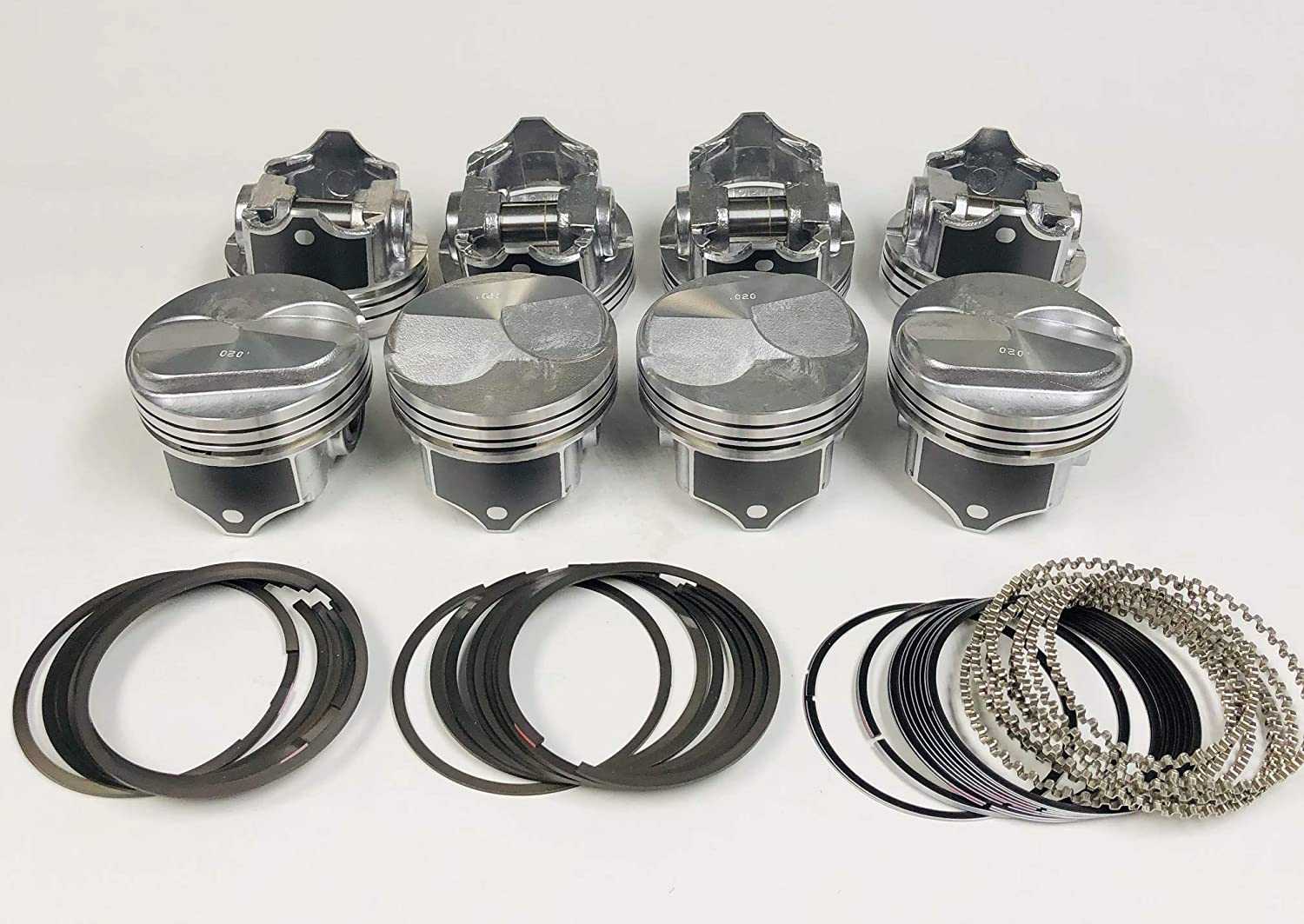 +Moly Rings Kit .030 Chevy 7.4//454 Silvolite Hypereutectic 30cc Dome Pistons 8
