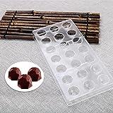 Molde de policarbonato de policarbonato para chocolate, 21 cavidades en forma de diamante, moldes para hacer caramelos, bande