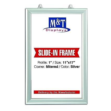 Amazon.com: DisplaysMarket Slide in Frame 11x17 Inch Poster Size, 1 ...