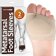 Metatarsal Pads - Gel Sleeves Forefoot Cushion Pads - Fabric Soft Foot Care Ball of Foot Cushions for Bunion Forefoot Mortons