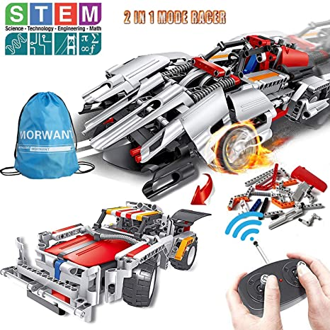 Amazon STEM Building Toys Remote Control Racer Learning Kits 326 Pcs For 7 8 And 9 Year Old Boys Girls