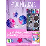 You*Niverse Crystal-Growing Jewelry by Horizon Group Usa, DIY Crystal Jewelry Making Kit, Pink Violet & Blue