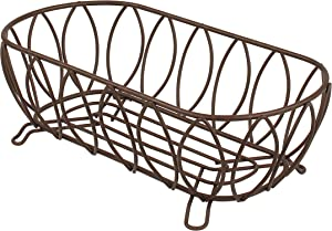 Spectrum Diversified Leaf Bread Basket, Classic Kitchen Design for Breads, Roll, Muffin, Pastries & Baked Good Storage, Traditional Style Snack & Food Holder for Serving