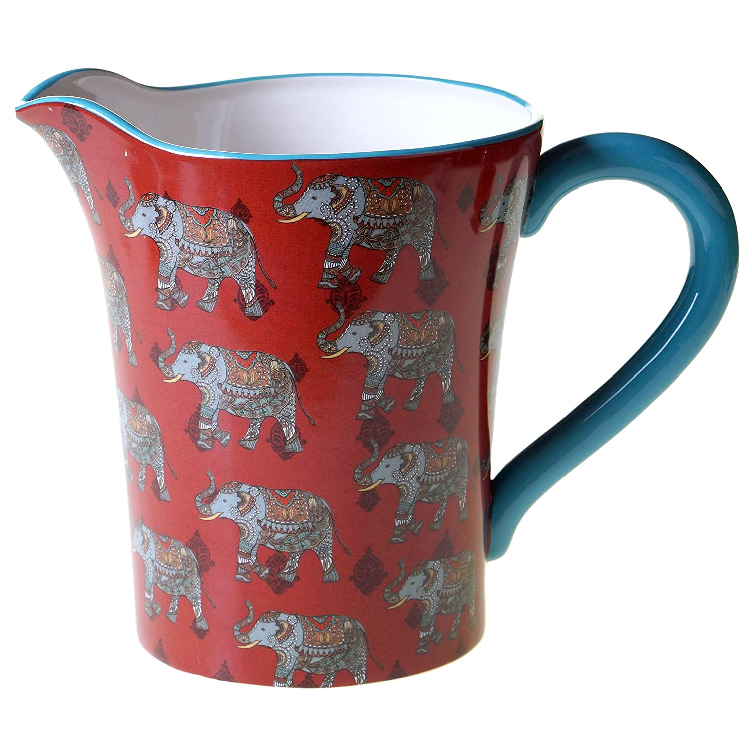 Multicolor 18572 Certified International Spice Route Pitcher