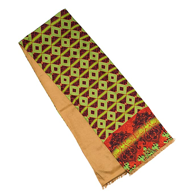 Seda Bufanda Para Hombre Rojo y Verde – 176 x 30 cm, elegante accesorio para