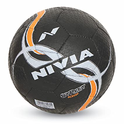 buy nivia street rubber football size 5 black online at low