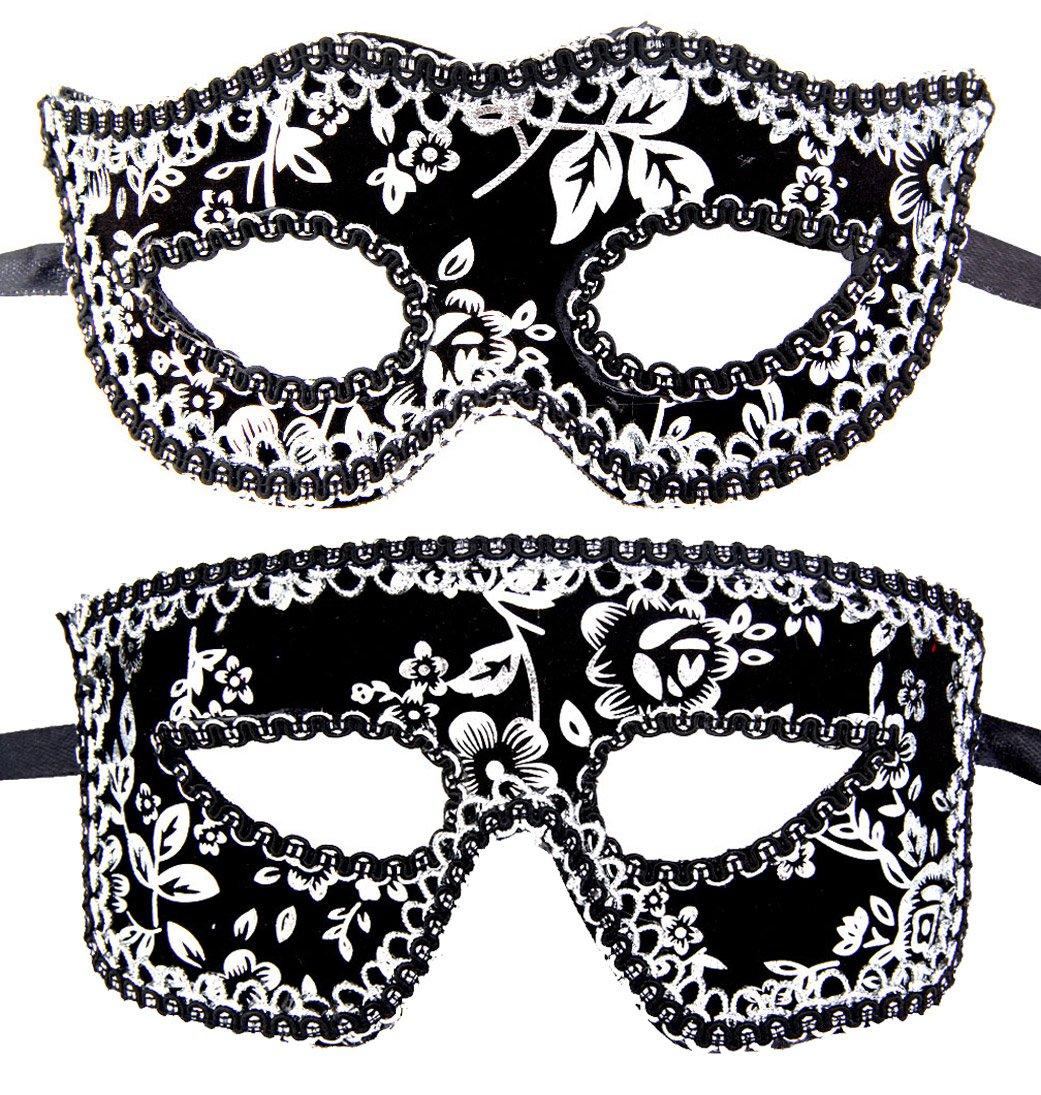 Couples Pair Half Venetian Masquerade Ball Masks Set Party Costume Accessory